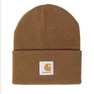 Carhartt Beanie Short Watch Hat Brown